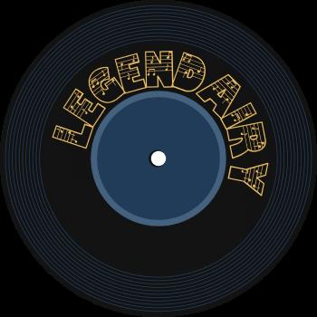 black vinyl disc with 'Legendairy' written on it