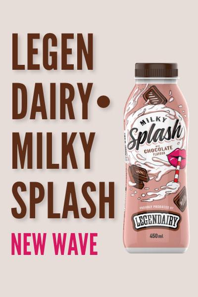 Legendairy milky splash banner for phone